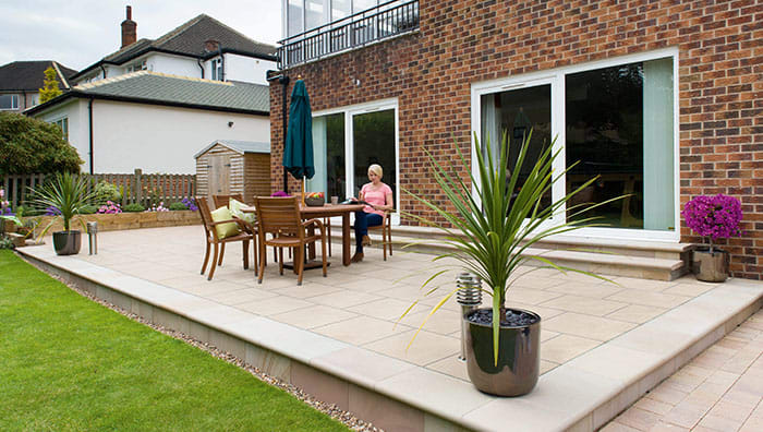 How To Lay A Patio On Concrete Laying, Put Pavers Over Concrete Patio