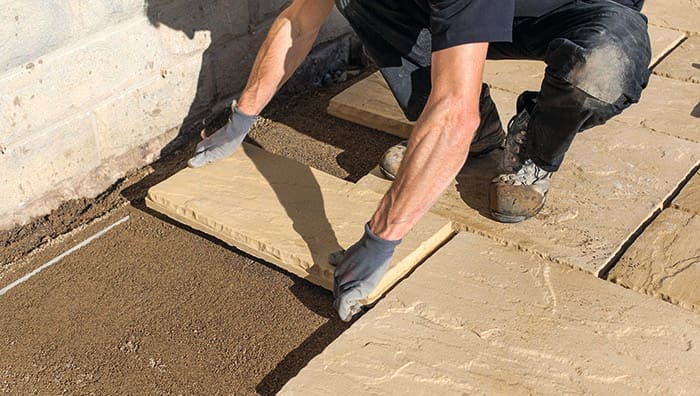 How To Lay A Patio Laying A Patio On Sand Or Soil For Beginners Marshalls