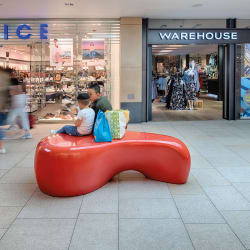 organic bench - red