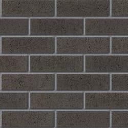 contemporary range basalt grey facing brick swatch panel
