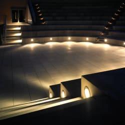 bega circular recessed wall luminaire