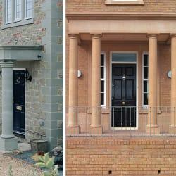 cast stone porticos and columns