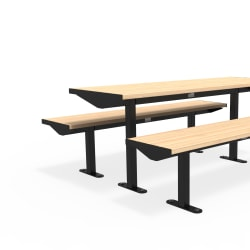 citi element table set - softwood with jet black frame
