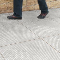 tactile barface paving - grey