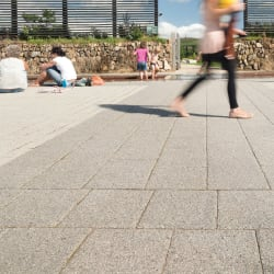 conservation textured paving - silver grey