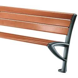 elite 3 place seat in cast iron and timber