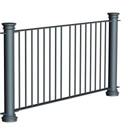ferrocast chancellor 1 (hi vis) polyurethane pedestrian guard rail