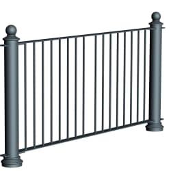 ferrocast court 1 (hi vis) polyurethane pedestrian guard rail