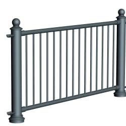 ferrocast court 3 (pgr3) polyurethane pedestrian guard rail