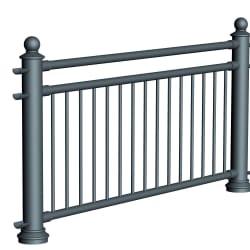 ferrocast court 4 (pgr3) polyurethane pedestrian guard rail