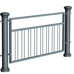 ferrocast regent 5 (pgr2) polyurethane pedestrian guard rail