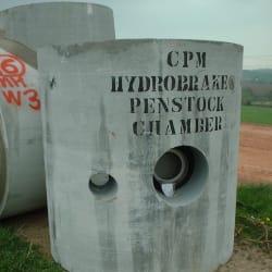 hydrobrake penstock chambers