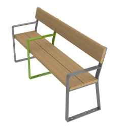 loci three place seat with arms