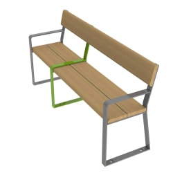 loci three place seat with end arms