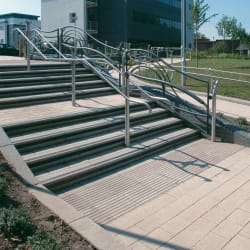 conservation silver grey textured kerb step unit