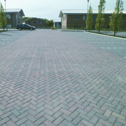 burnt ochre priora block paving - leeds