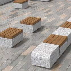 metrolinia bench 600 natural stone