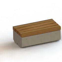 metrolinia bench with timber slats