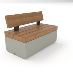 metrolinia seat with timber