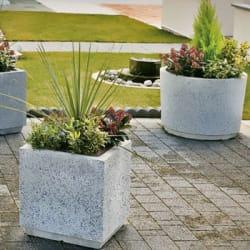 monoscape strada circular concrete planter