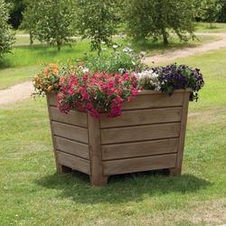 mplas newforest plastic planter in dark wood