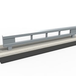 rhinoguard beam - powder coated mild steel ral 7046