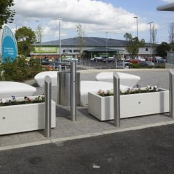 rhino rs004 bollards geo litter bin bellitalia artemide planters and escofet extasi seats mayflower retail park basildon