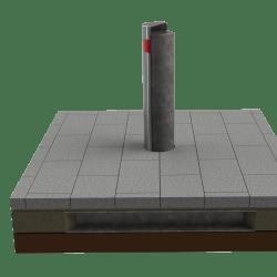 rhinoguard 72/50 shallow mount bollard