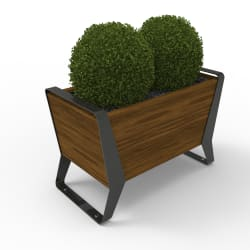 stratic planter - copper and carbon