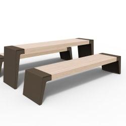 urbain table & bench in bronze