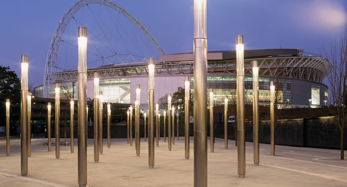Lighting outside Wembley stadium