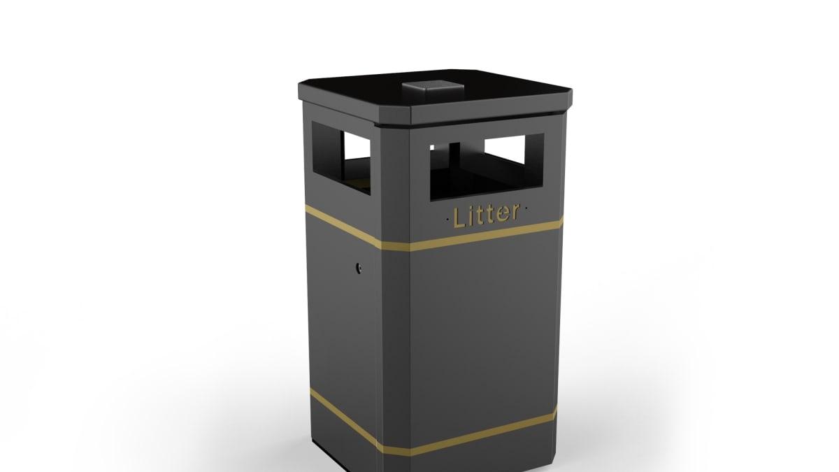 Albion Square Litter Bin