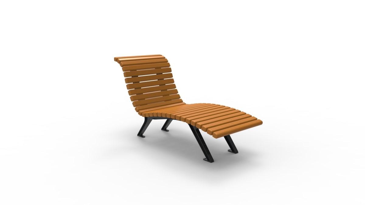 Wooden lounger chair