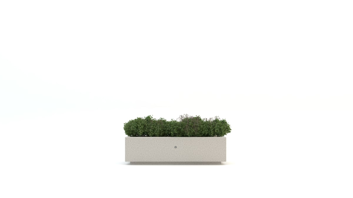 Curved stone planter