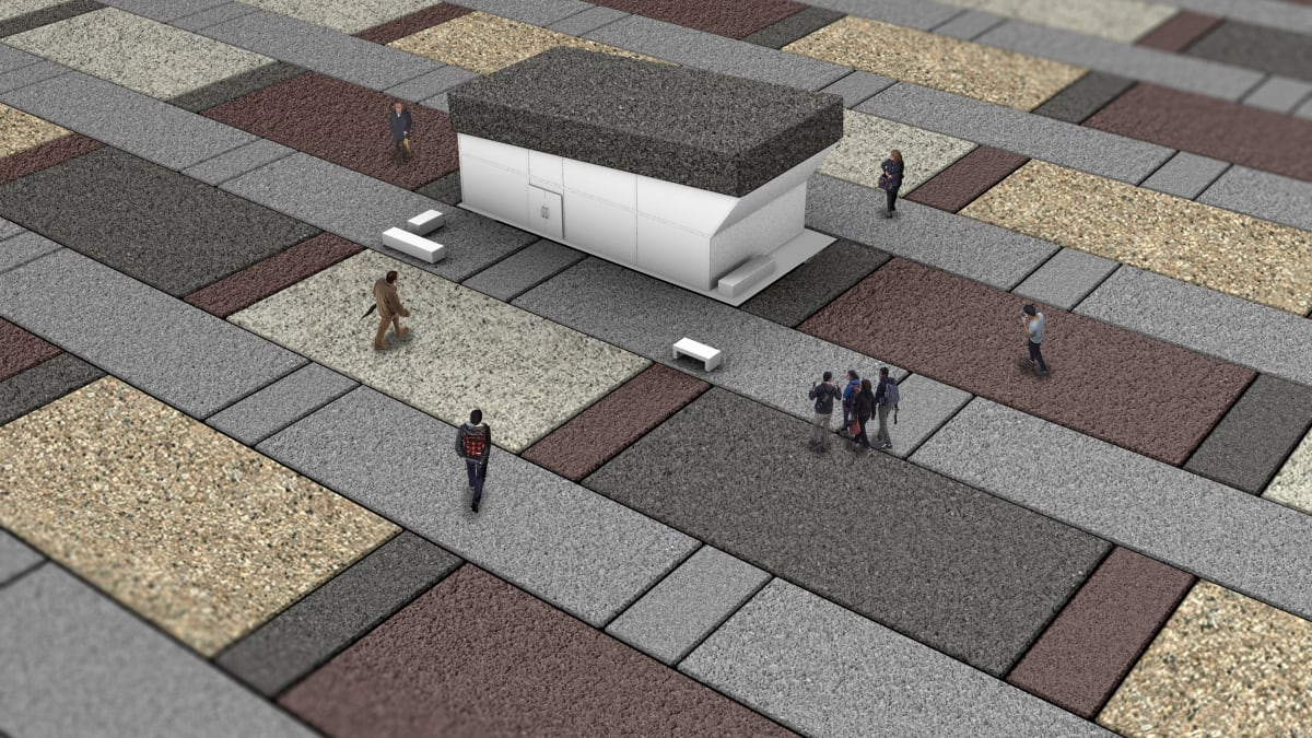 Modal paving offering design opportunities with a variety of colours and finishes