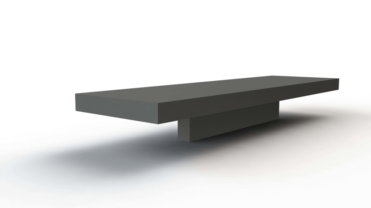 canet bench white background