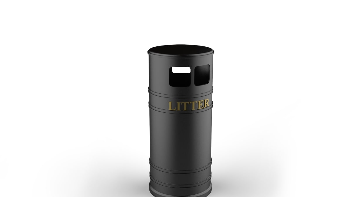 Heritage Cast Iron Litter Bin