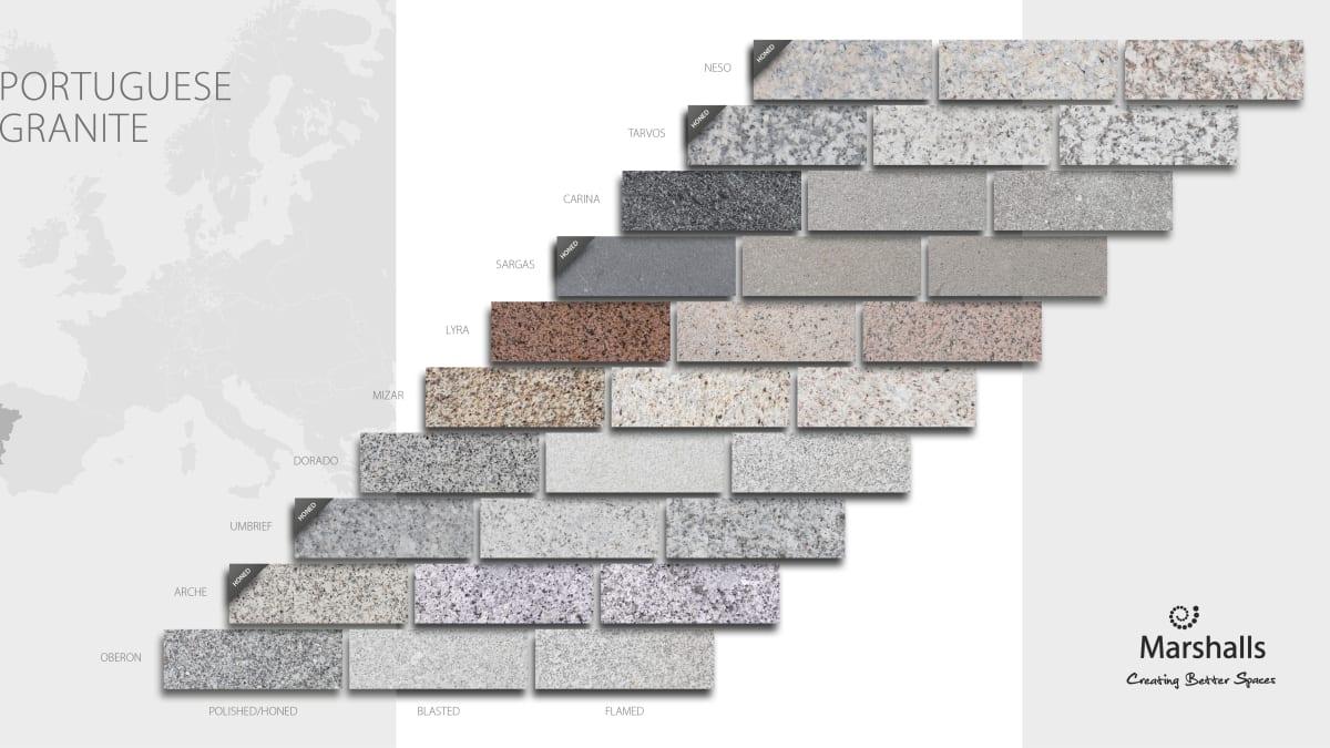 Marshalls range of Portuguese Granite paving
