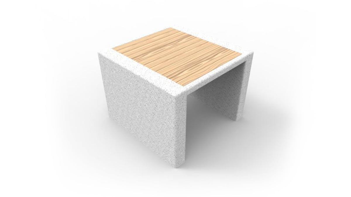 white and wooden prima marina stool
