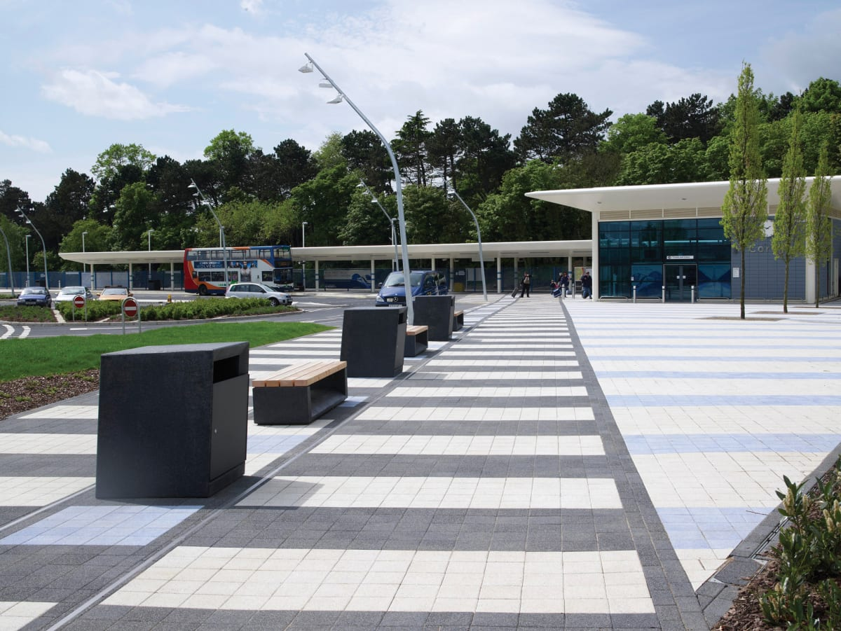 Escofet benches and litter bins, Corby