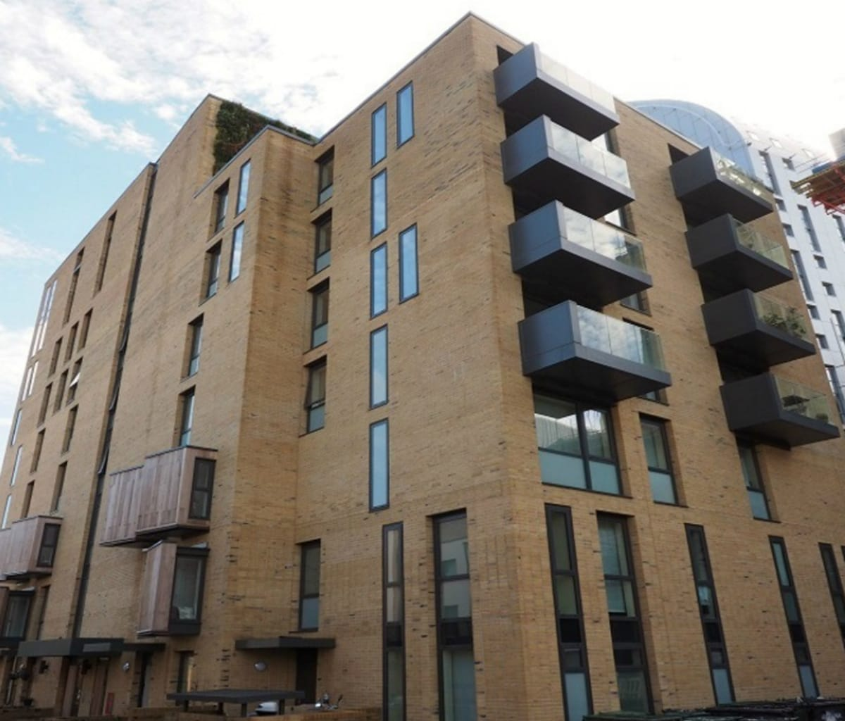 Social housing apartment block in Ealing built using Marshalls' bricks