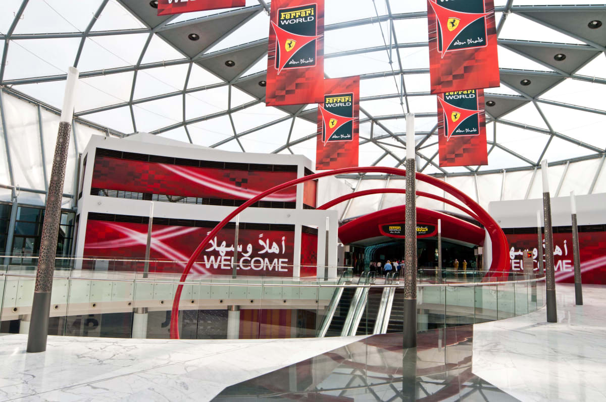 bespoke lightstacks - ferrari world