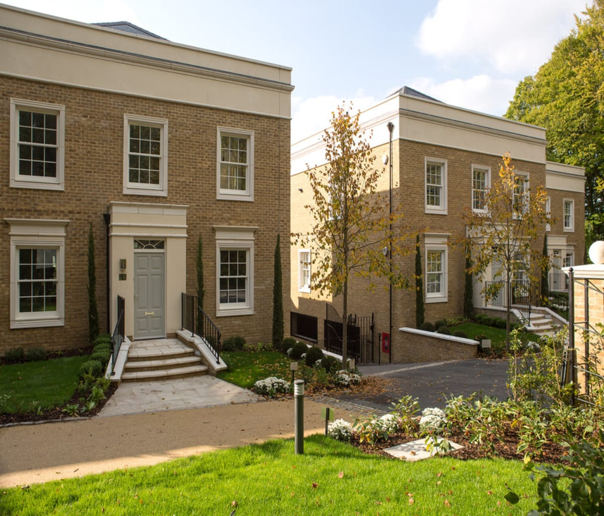 Marshalls cast stone porticos and window surrounds