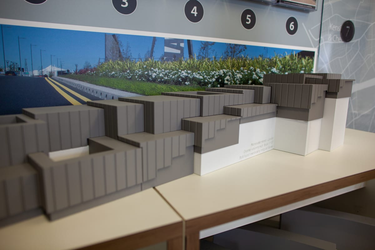 3D model of retaining wall