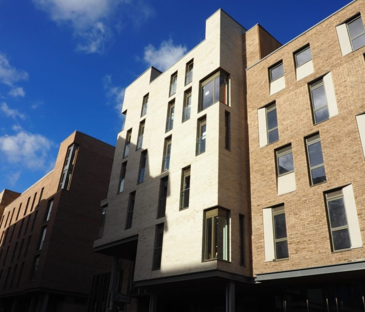 View of accommodation buildings in Edinburgh