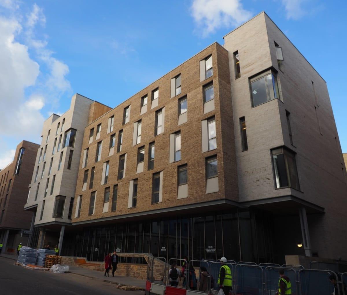 Student accommodation created using facing bricks