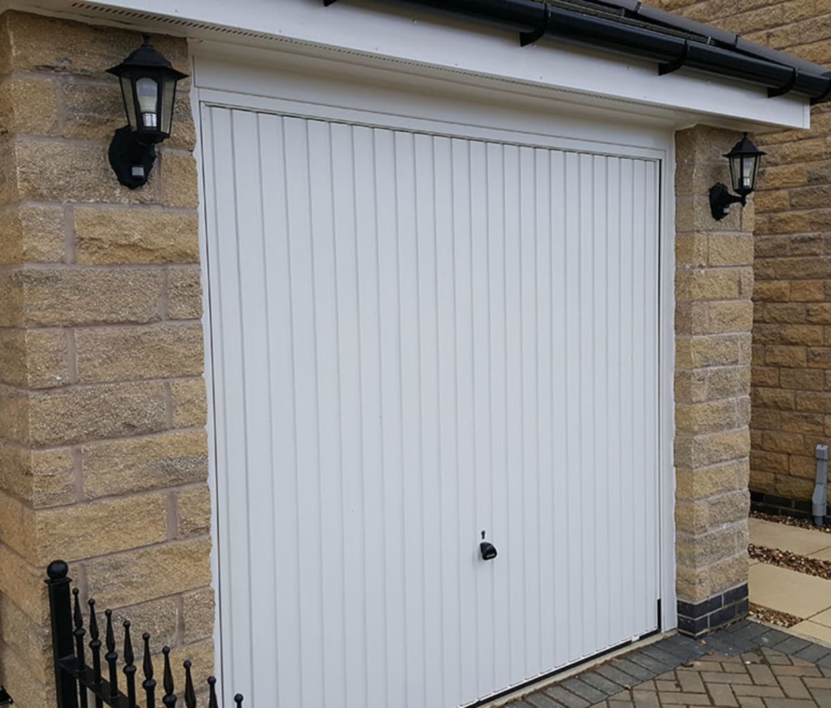 Garage built with walling stone