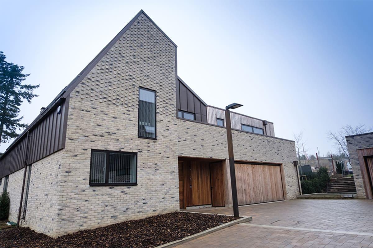 Sustainable housing built using Marshalls bricks