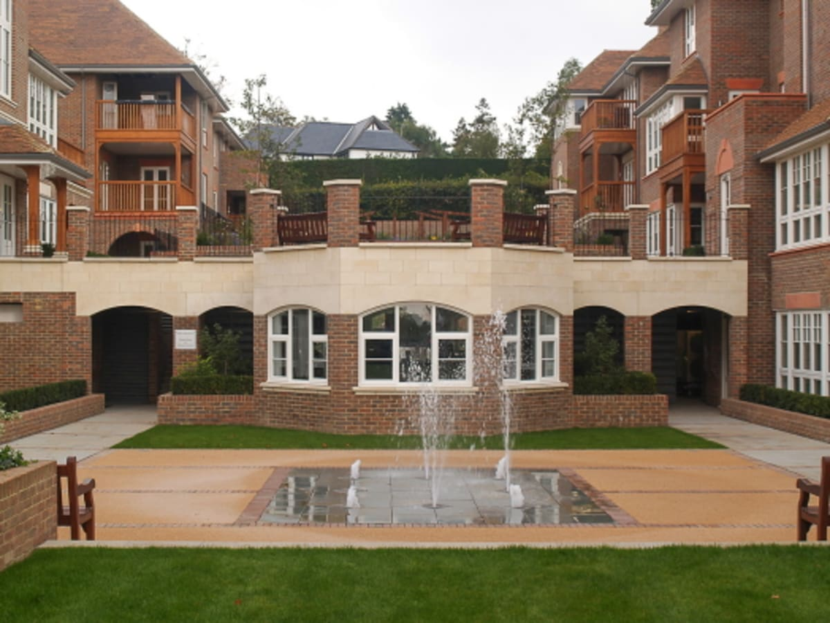 Archways made from cast stone supplied by Marshalls