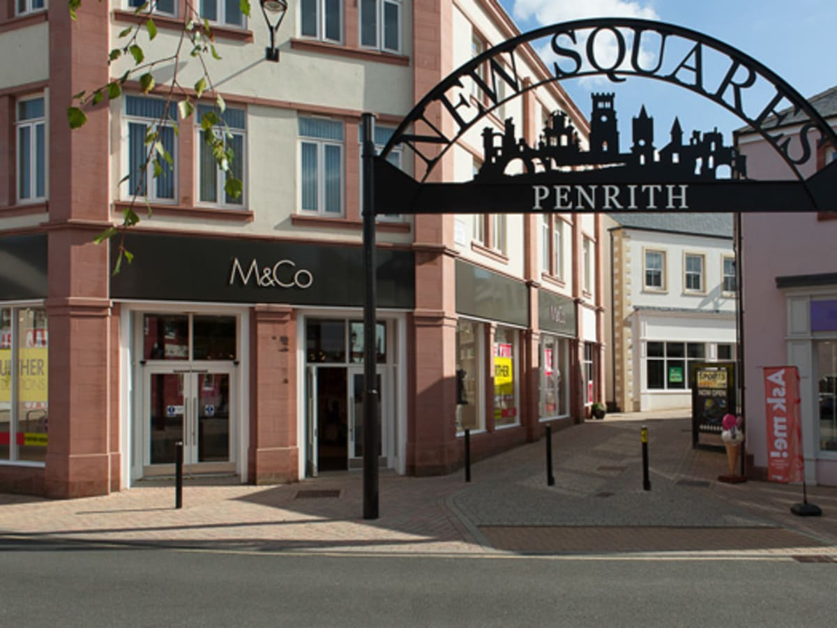 Cast stone supplied in 3 shades to complement the vernacular style of Penrith's historic centre